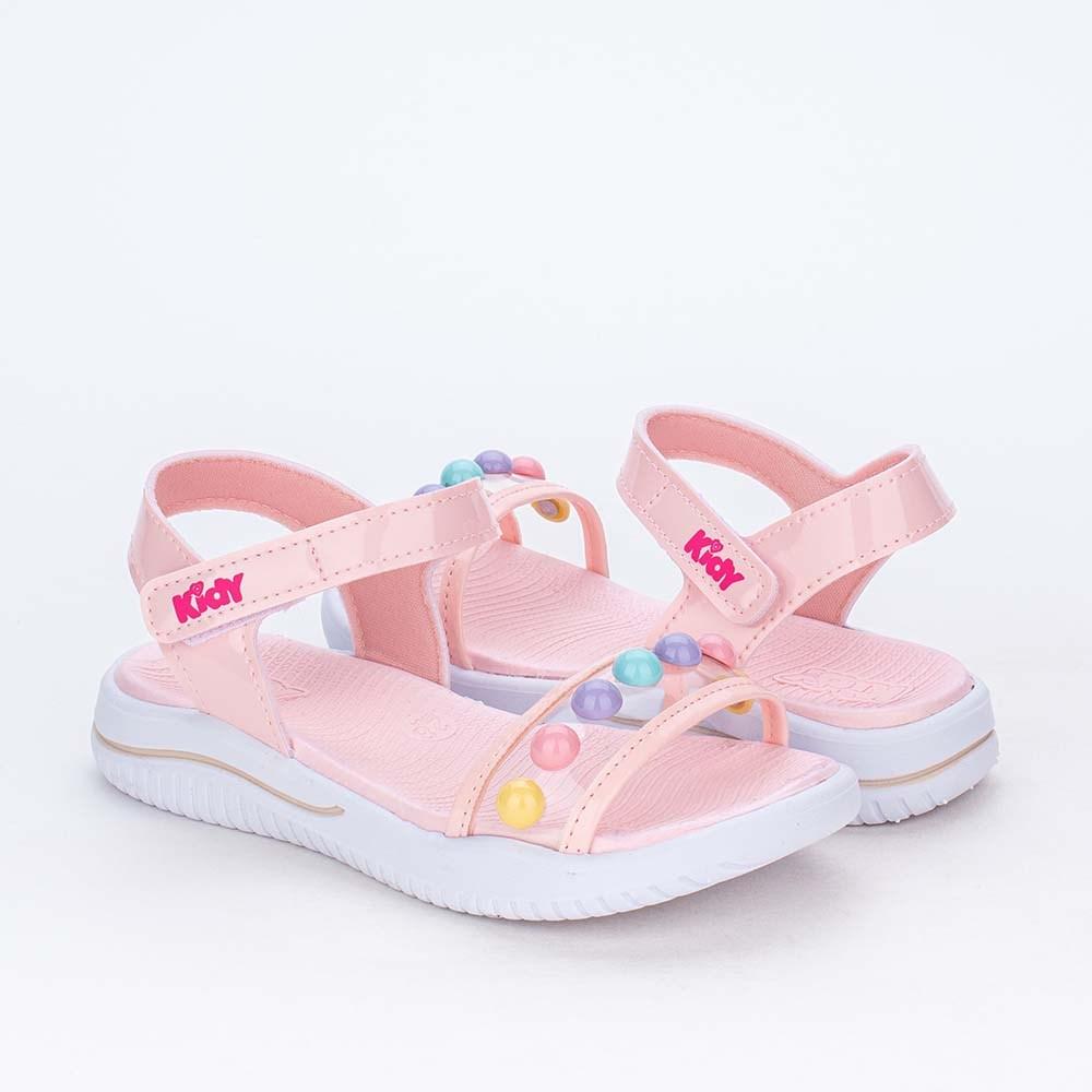 Sandália Infantil Baby Menina Equilíbrio Coelhinha Nude Rosê