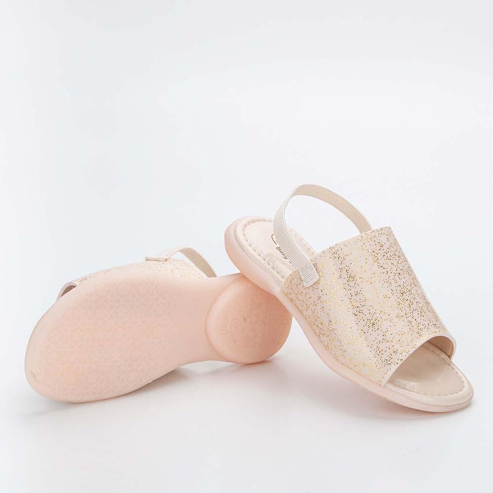 Sandália Infantil Baby Menina Equilíbrio com Glitter Marfim