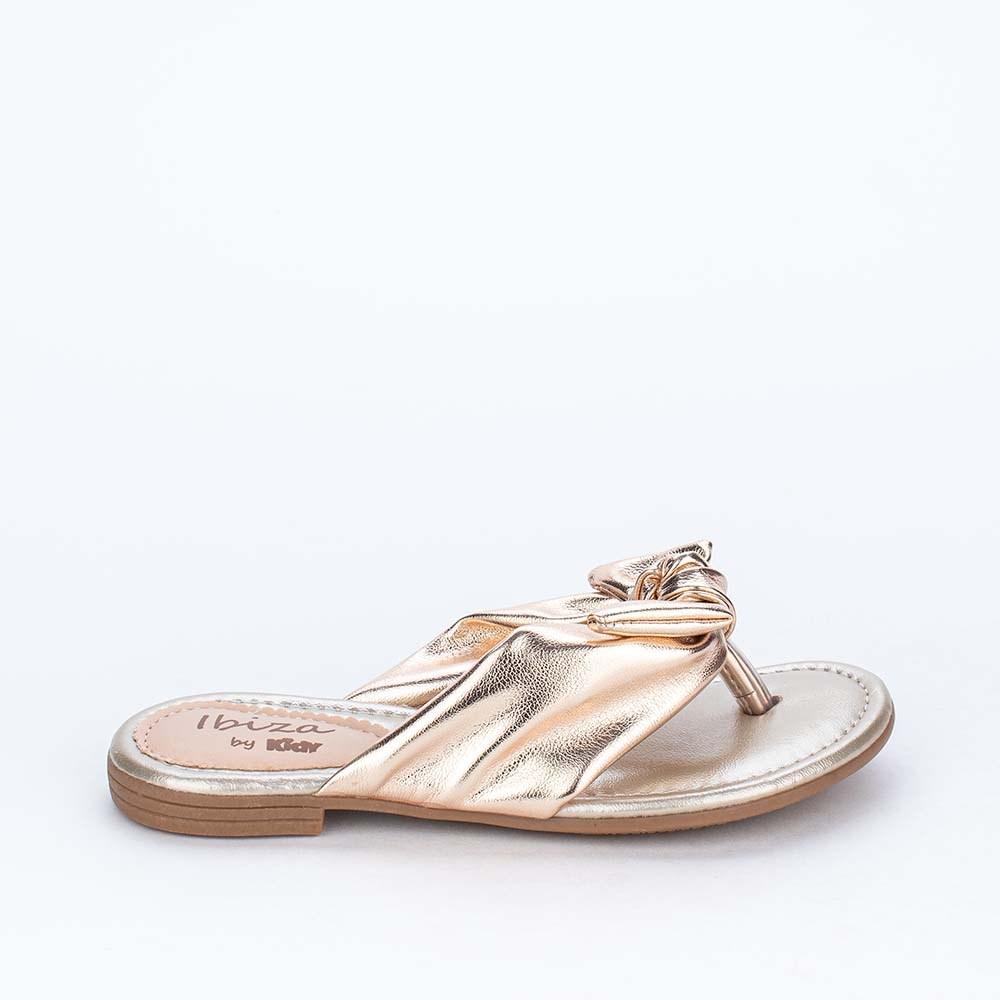 Sandália Infantil Comfy Ibiza Menina Dourada Metalizada