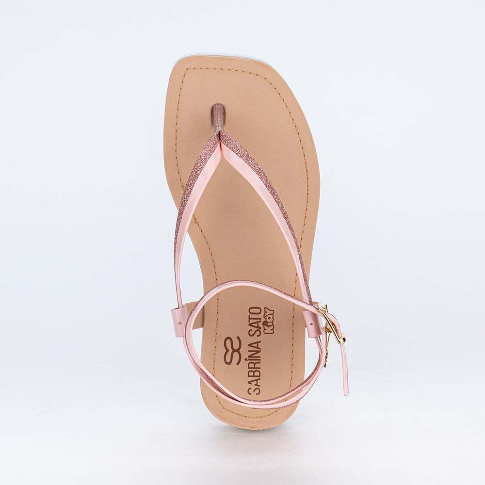 Sandália Infantil de Dedo Sabrina Sato Glitter Nude