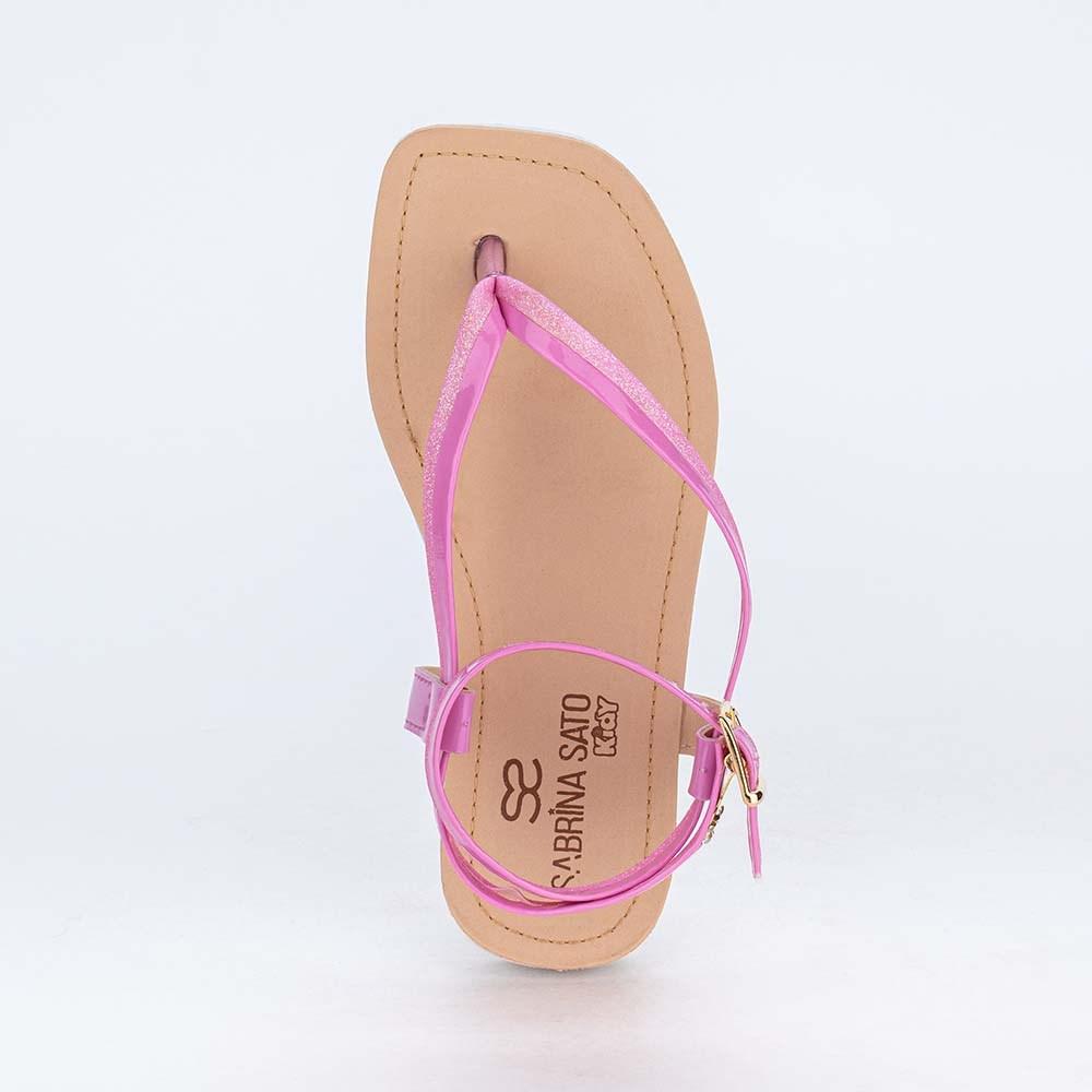 Sandália Infantil de Dedo Sabrina Sato Glitter Orquídea