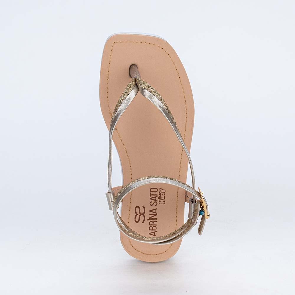 Sandália Infantil de Dedo Sabrina Sato Glitter Ouro