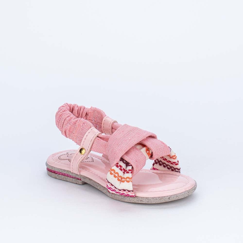 Sandália Infantil Eco Sustentável Primeiros Passos Rosa Nude