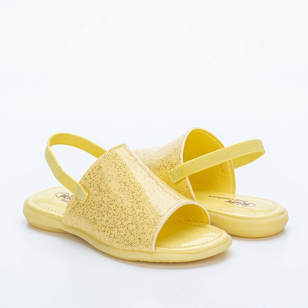 Sandália Infantil Feminina Baby Menina Equilíbrio Amarelo