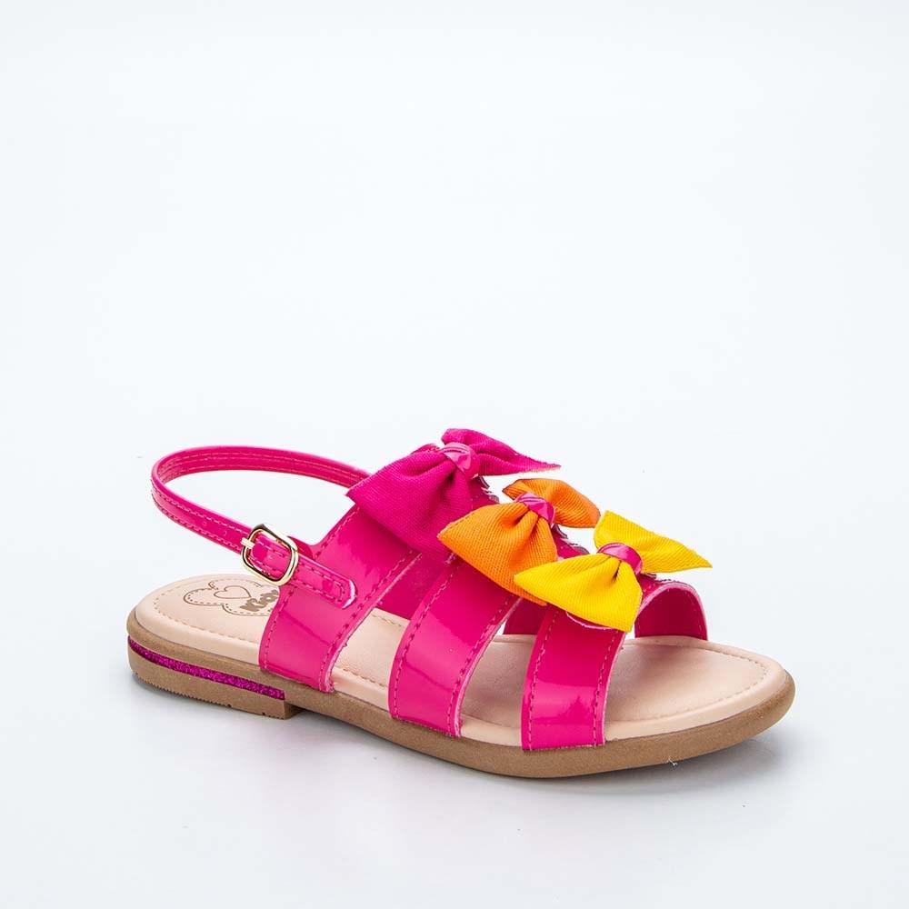 Sandália Infantil Feminina Kidy Amar é Baby Pink e Colorido