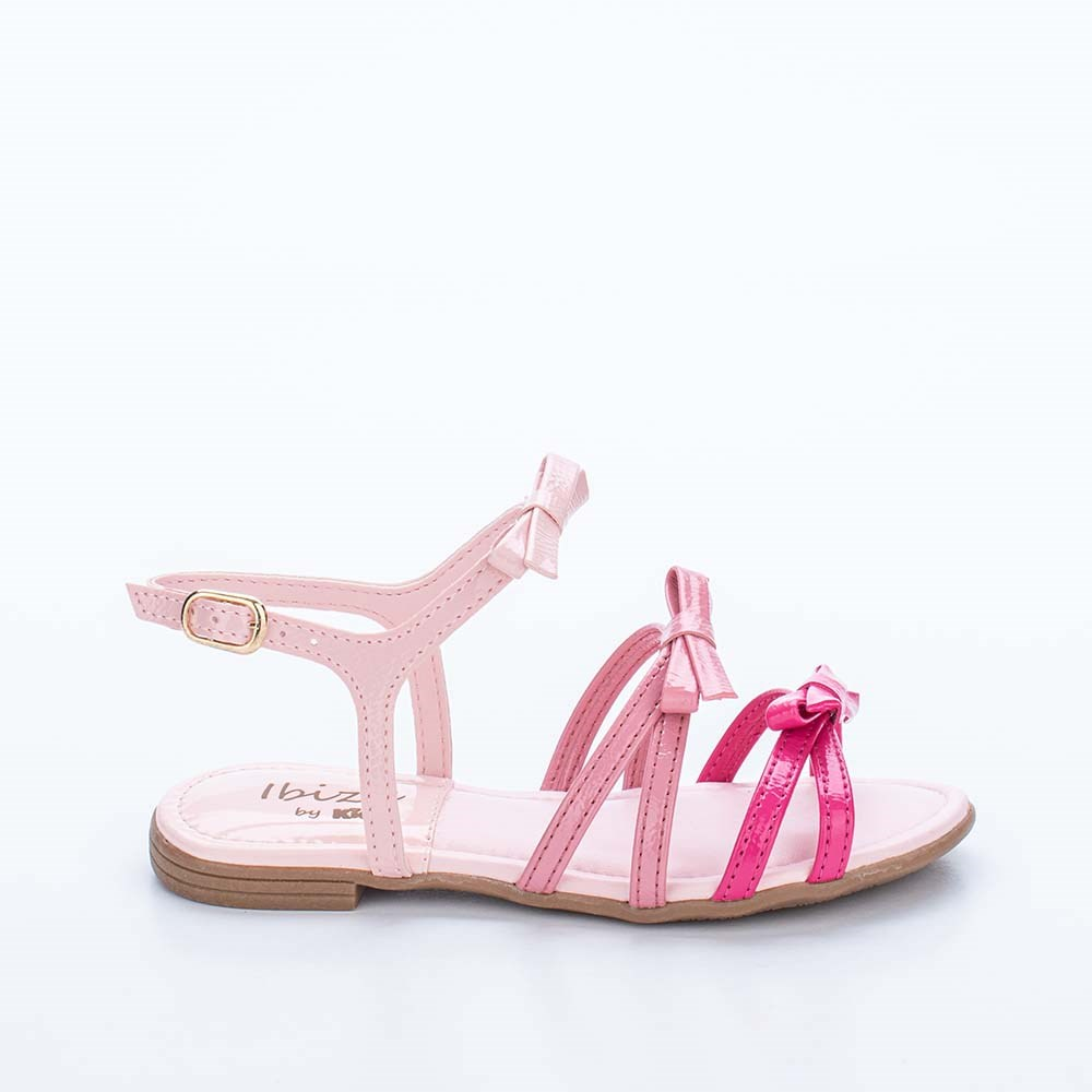 Sandália Infantil Feminina Kidy Flat Ibiza Nude e Colorido