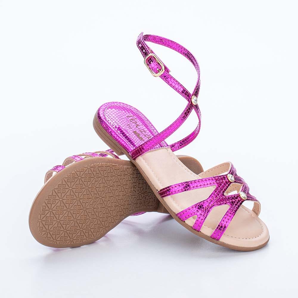 Sandália Infantil Feminina Kidy Flat Ibiza Pink