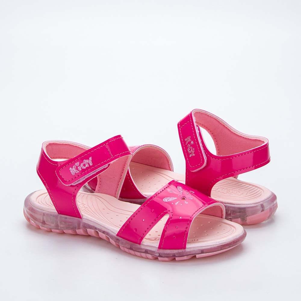Sandália Infantil Feminina Kidy Light Pink e Rosa