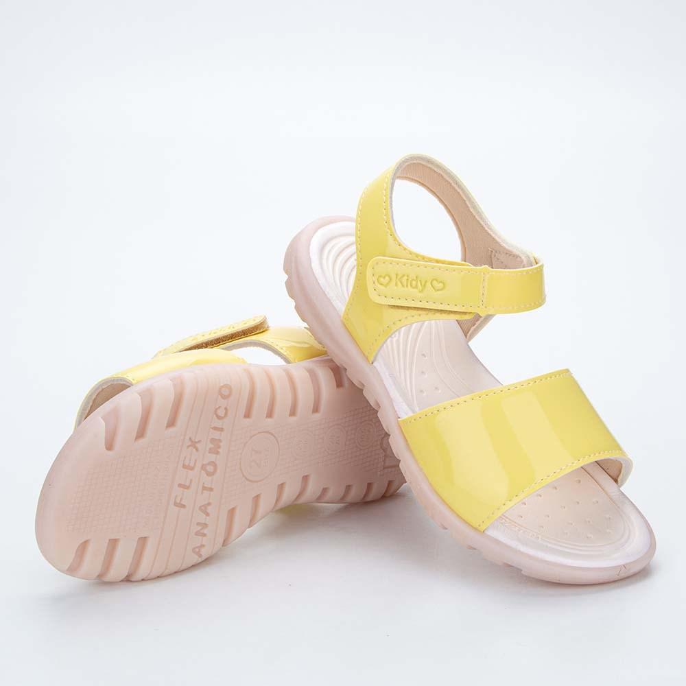 Sandália Infantil Feminina Papete Kidy Gloss Amarelo