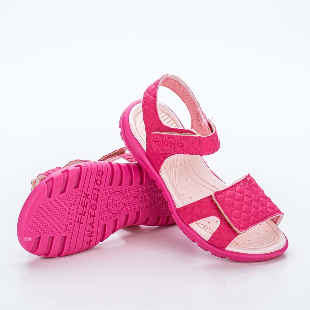 Sandália Infantil Feminina Papete Kidy Gloss Pink