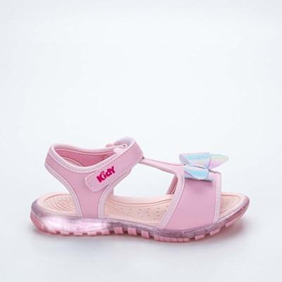 Sandália Infantil Feminina Papete Kidy Gloss Rosa