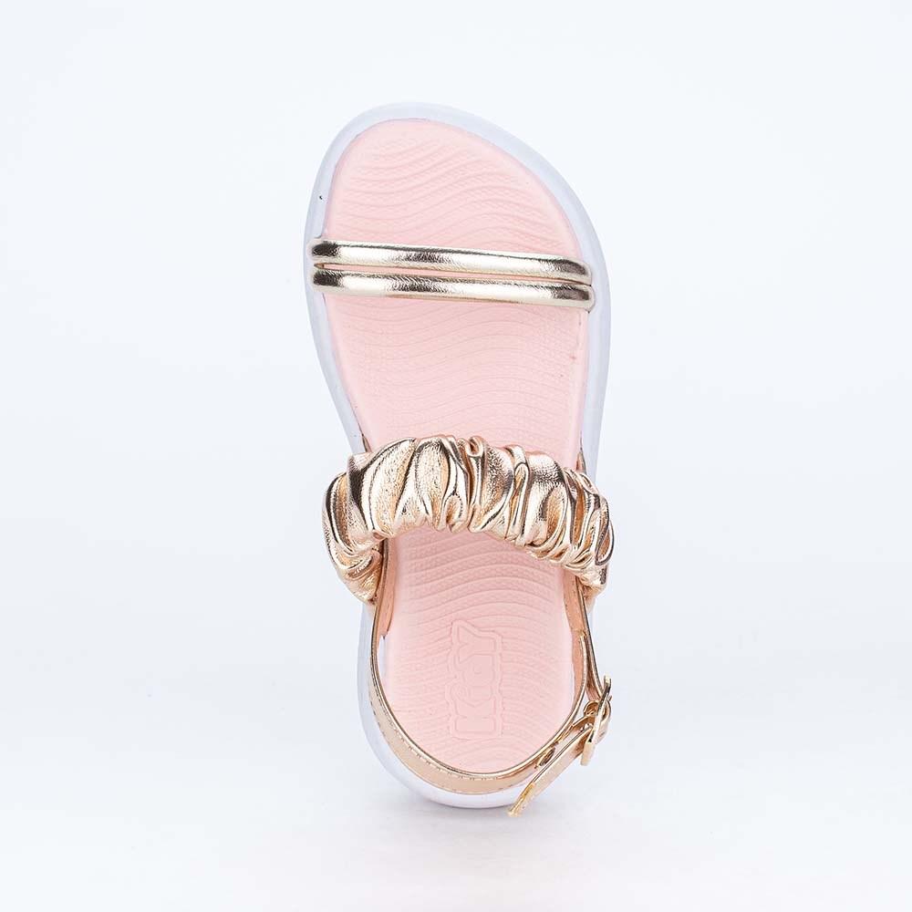 Sandália Infantil Feminina Ultra Leve Comfy Metalizada Dourada