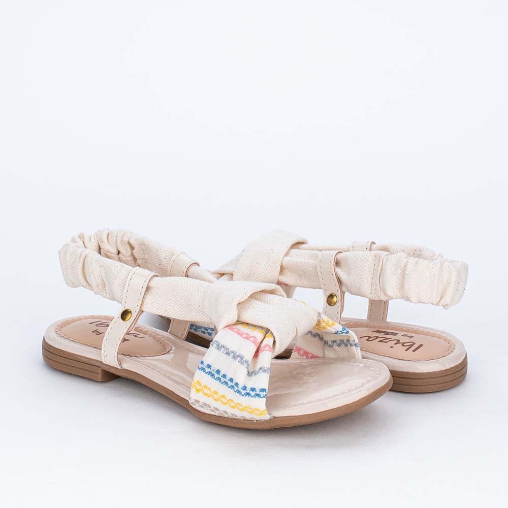 Sandália Infantil Flat com Material Eco Sustentável Marfim