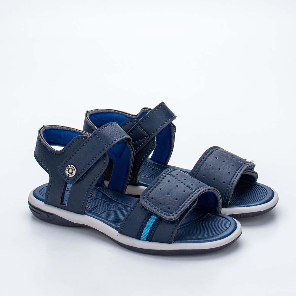 Sandália Infantil Masculina Kidy Flex Marinho e Azul Royal