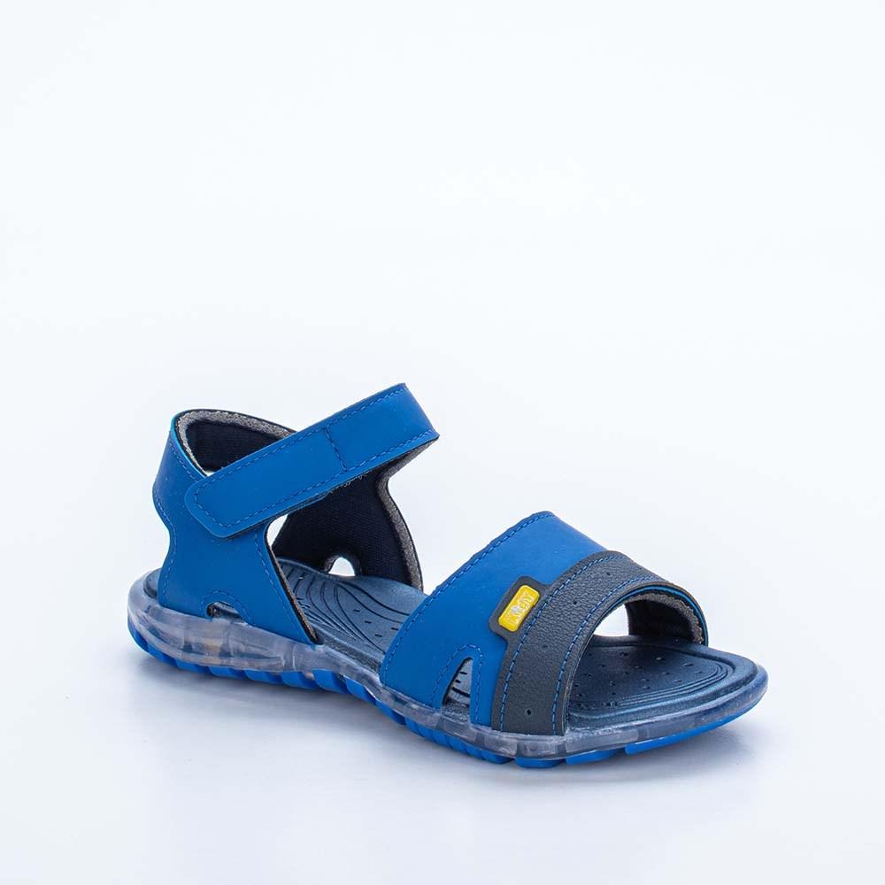 Sandália Infantil Masculina Kidy Light Azul Royal e Marinho