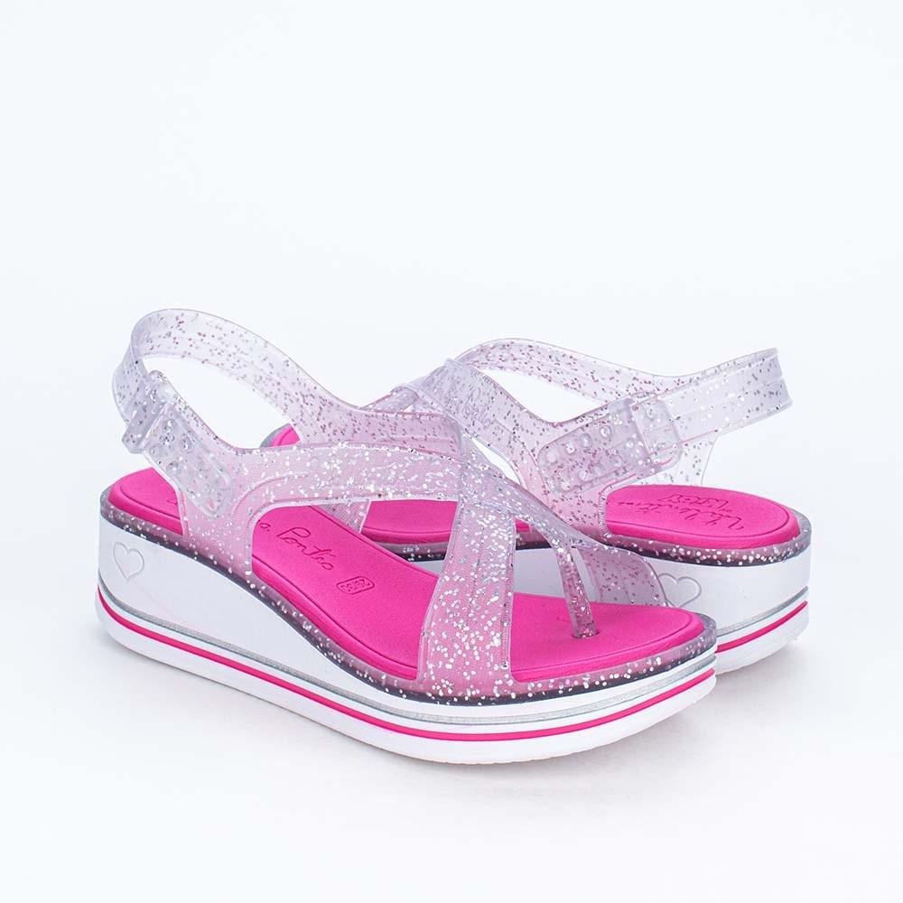 Sandália Infantil Valentina Pontes By Kidy Glitter Prata