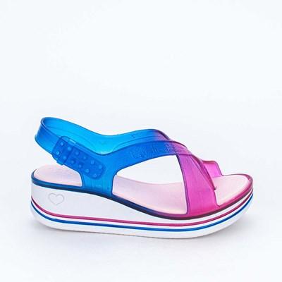 Sandália Infantil Valentina Pontes By Kidy Tie Dye Pink Azul