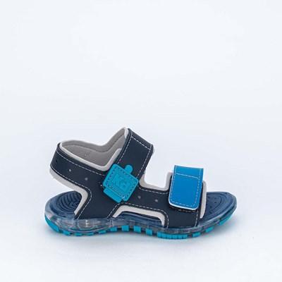 Sandália Papete de Led Infantil Kidy Marinho e Azul Royal