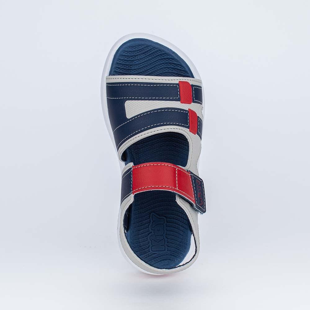 Sandália Papete Infantil Fly Ultra Leve Cinza e Vermelha