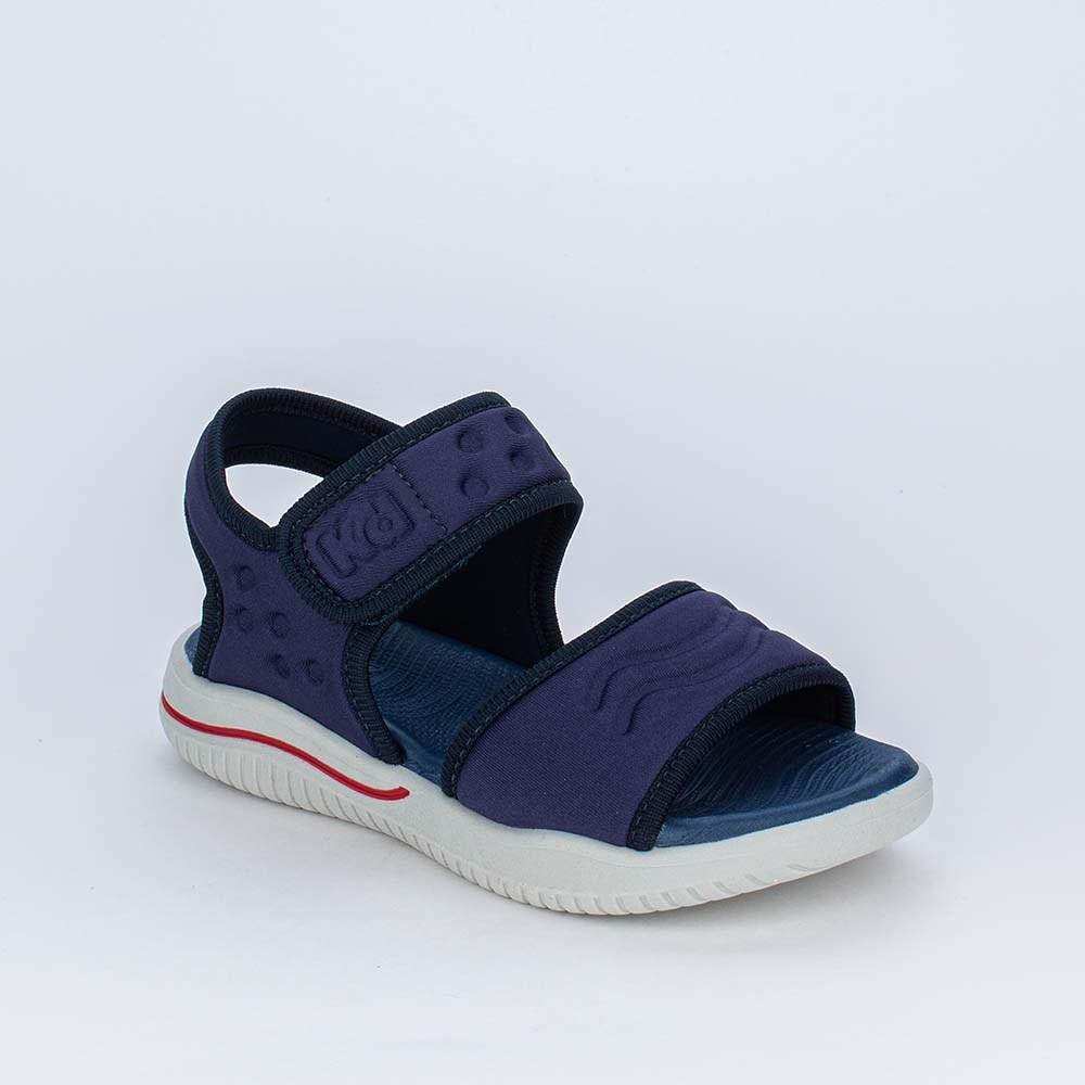 Sandália Papete Infantil Kidy Fly Ultra Leve Azul Marinho