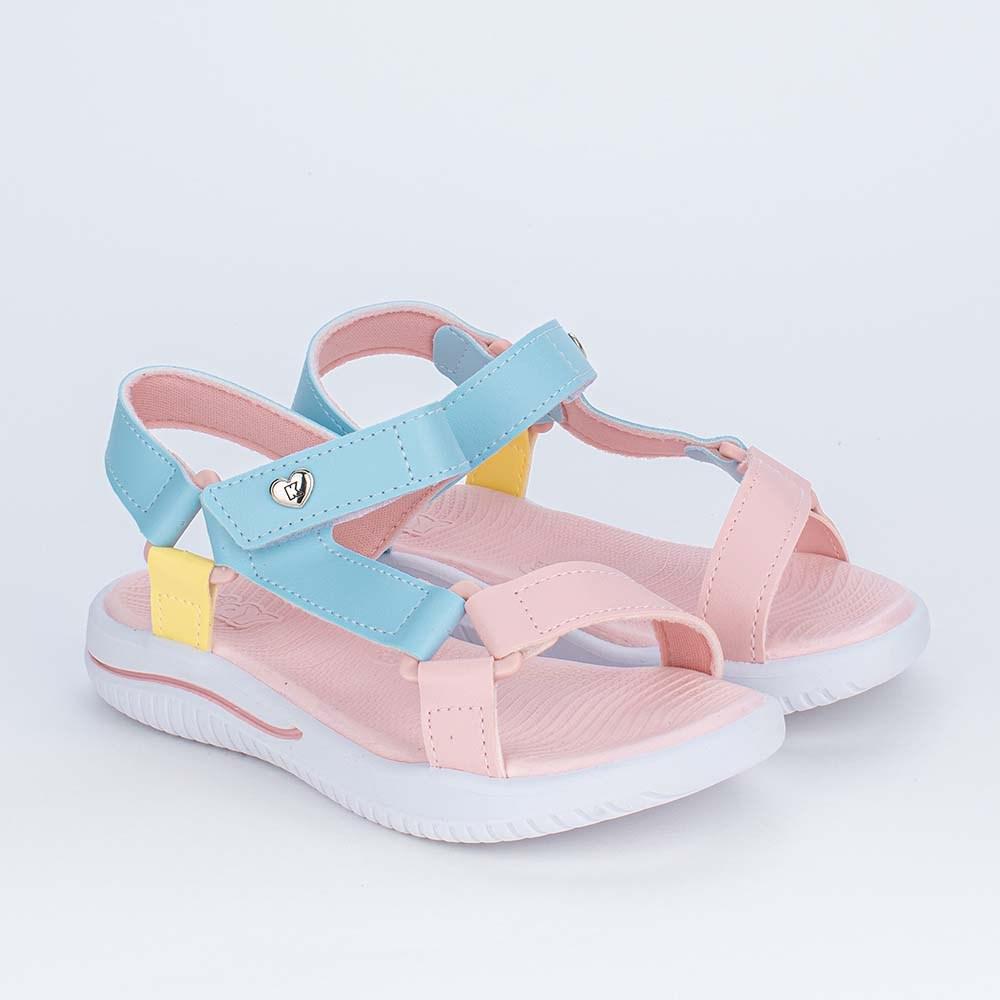 Sandália Papete Infantil Kidy Fly Ultra Leve Candy Colors
