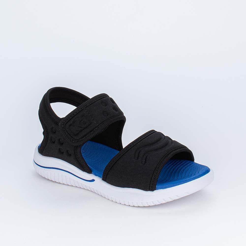 Sandália Papete Infantil Kidy Fly Ultra Leve Preta e Azul