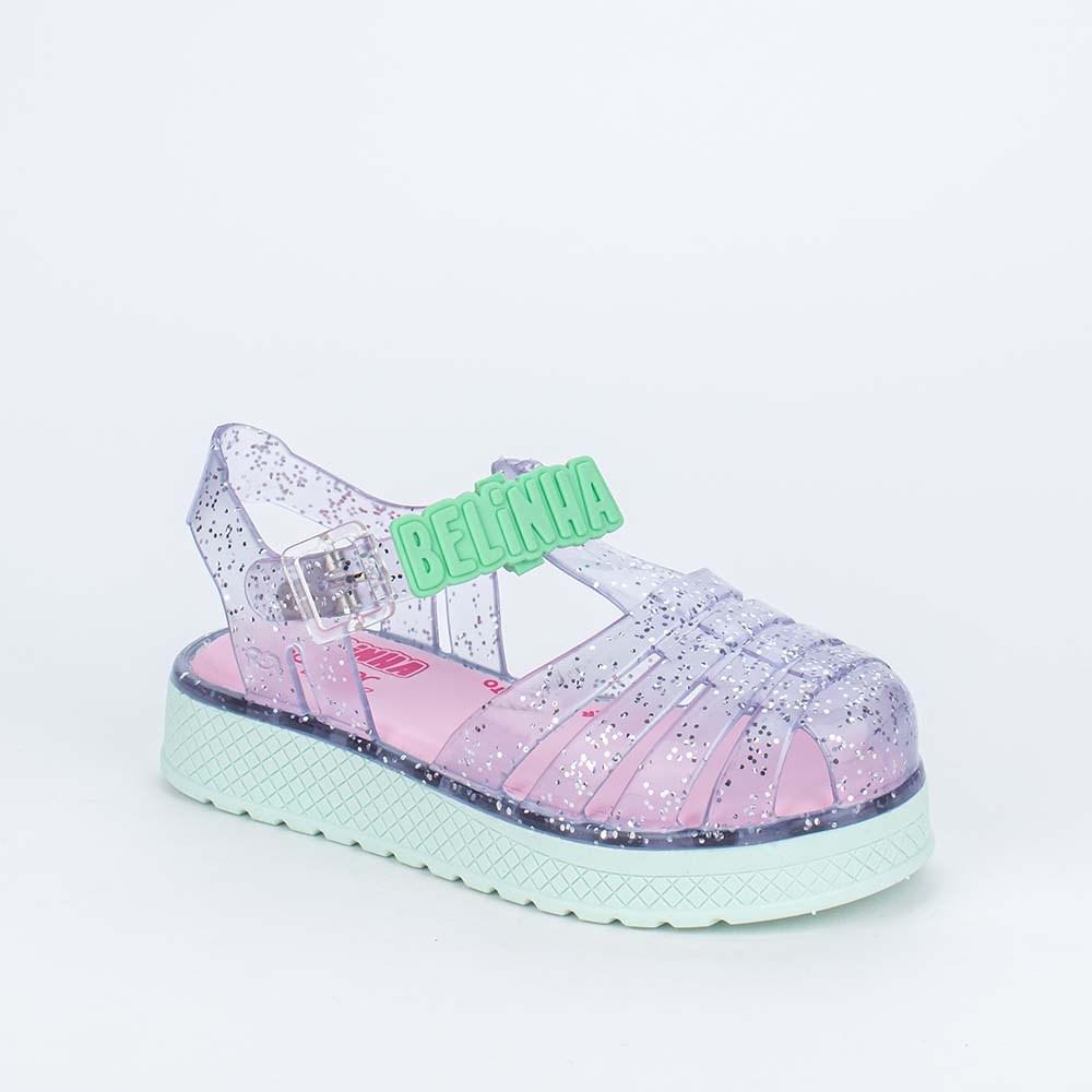 Sandália Papete Infantil Kidy Fly Ultra Leve Rosa Nude