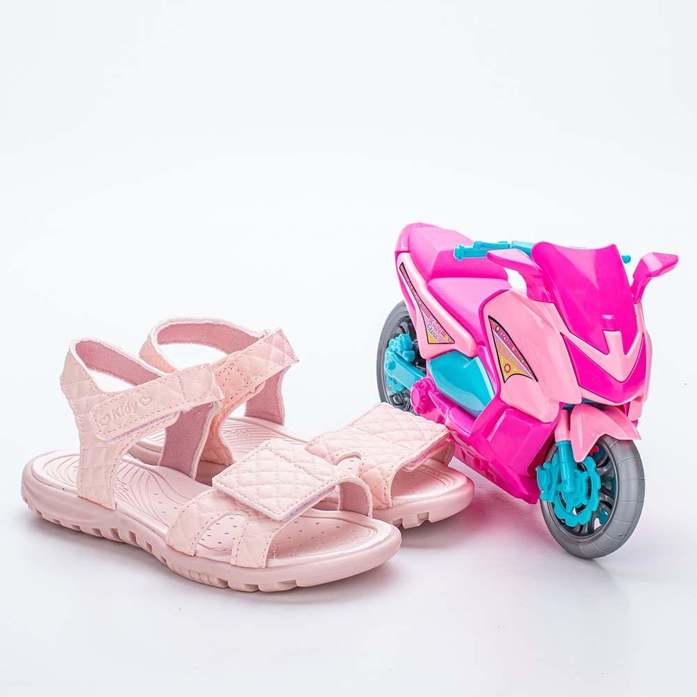Sandália Papete para Meninas Kidy com Brinquedo Rosa Nude
