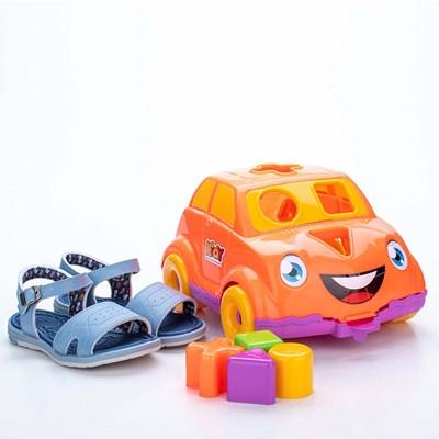 Sandália para Bebê Kidy Baby Azul com Brinquedo