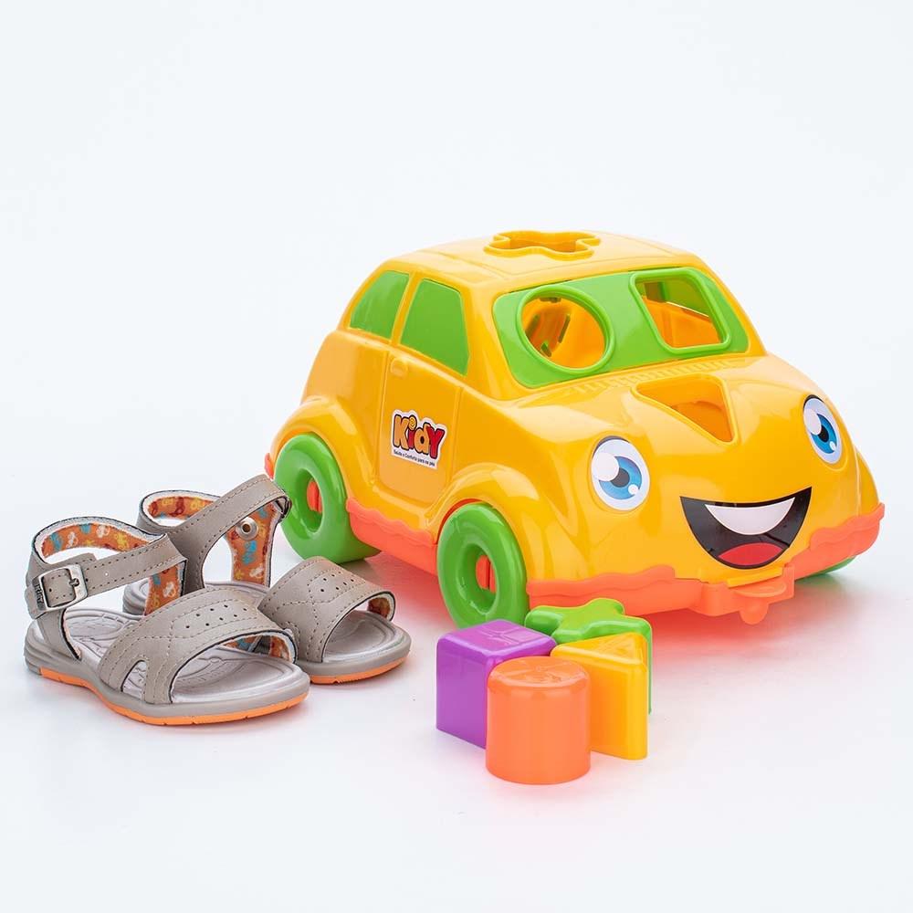 Sandália para Bebê Kidy Baby Bege com Brinquedo Interativo