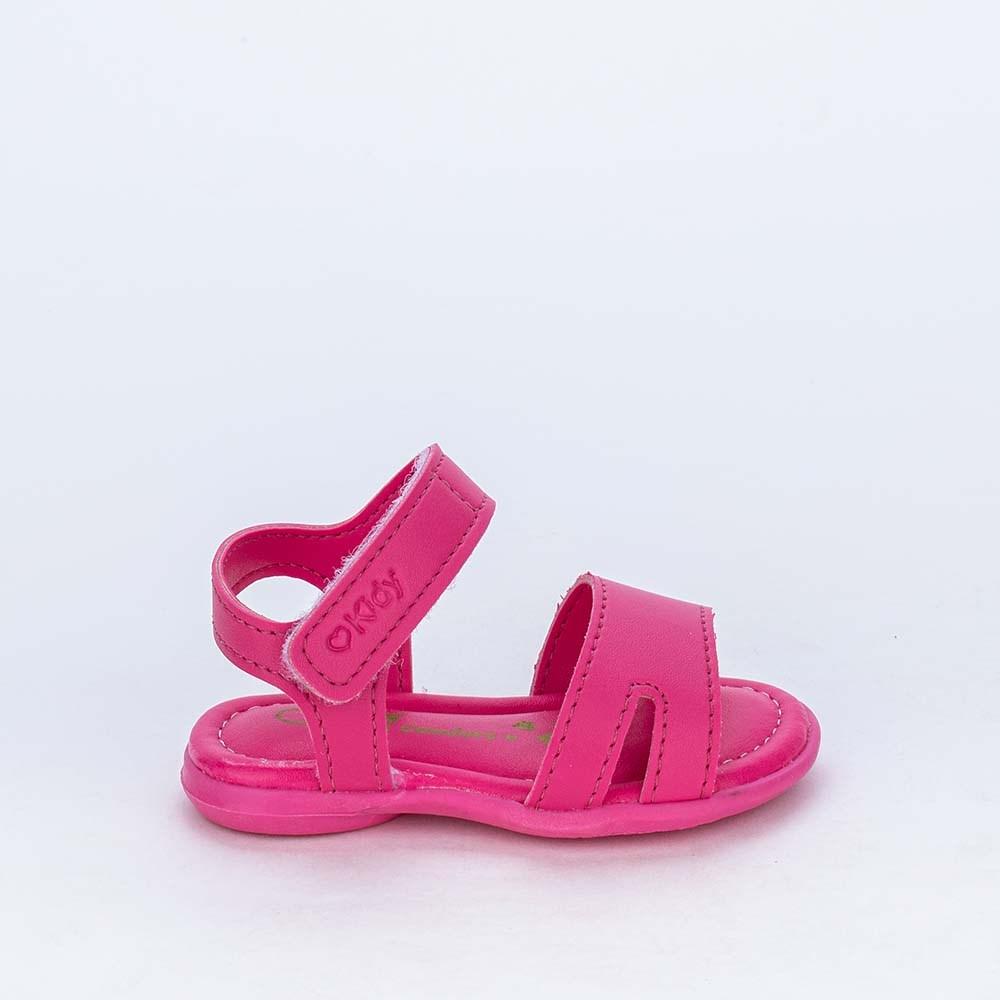 Sandália para Bebê Menina Basiquinha Kidy Equilíbrio Pink
