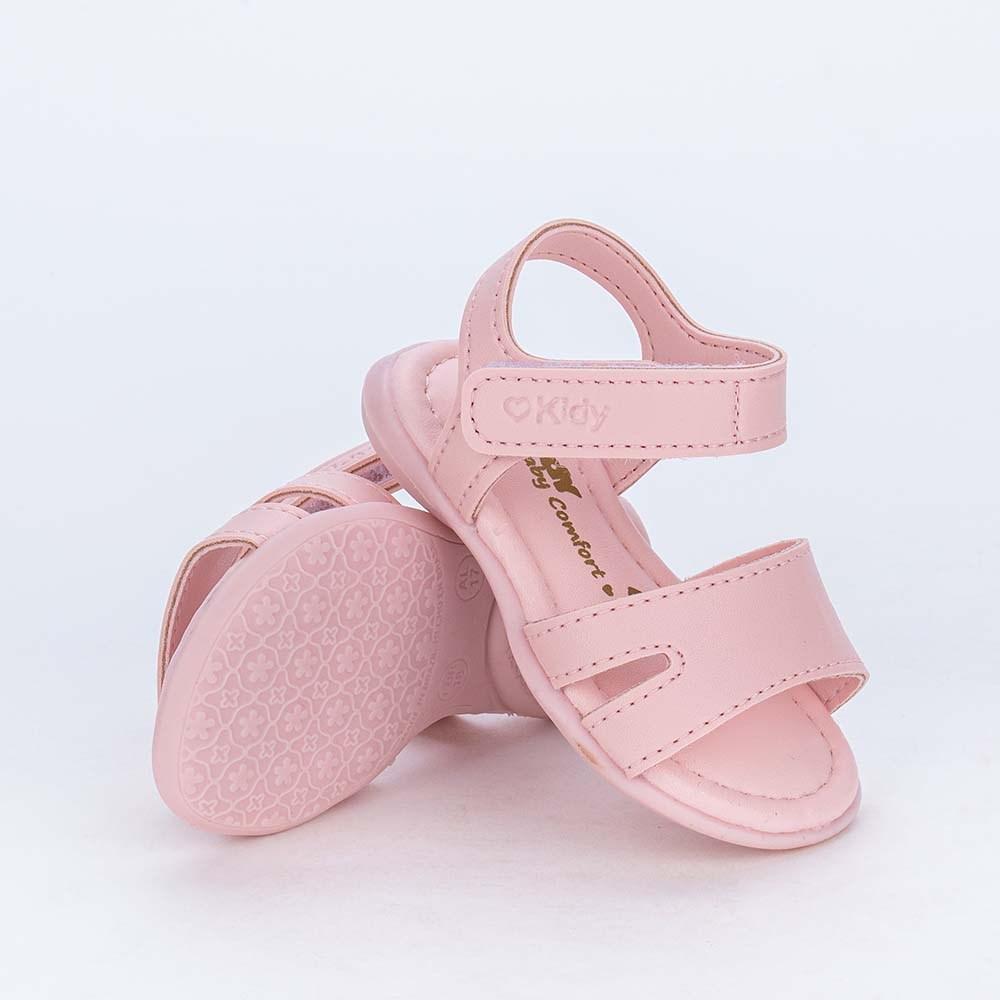Sandália para Bebê Menina Basiquinha Kidy Equilíbrio Rosa