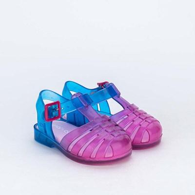 Sandália para Bebê Menina Mar e Cor Tie Dye Pink e Azul