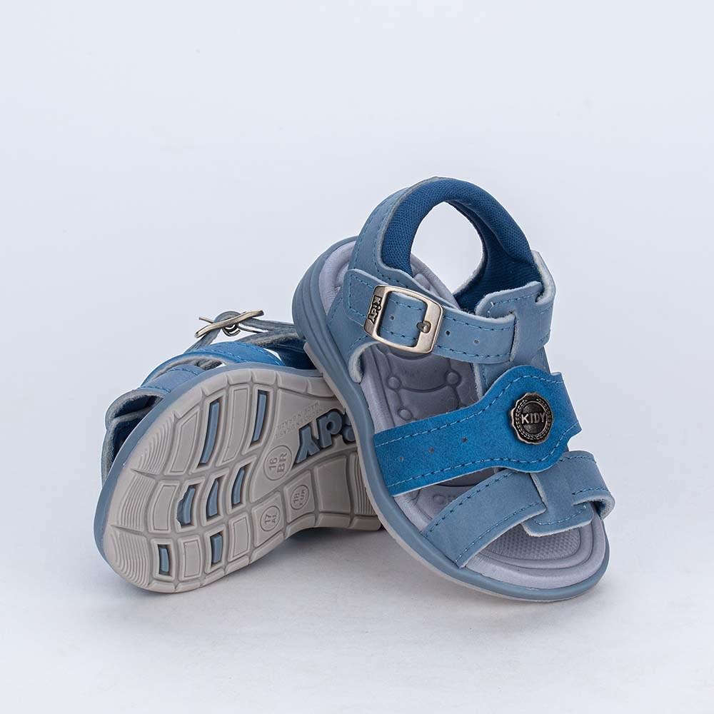 Sandália para Bebê Menino Equilíbrio Azul Stone e Índigo
