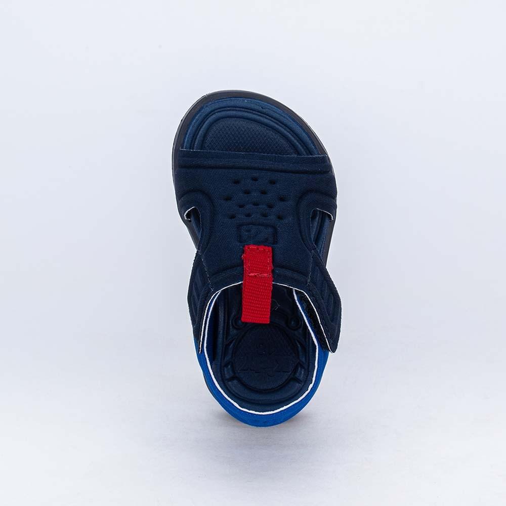 Sandália para Bebê Menino Equilíbrio Preta detalhe Vermelho