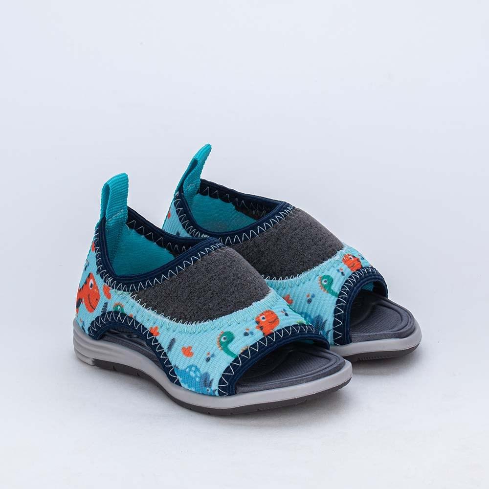 Sandália para Bebê Menino Equilíbrio Super Comfy com Dino