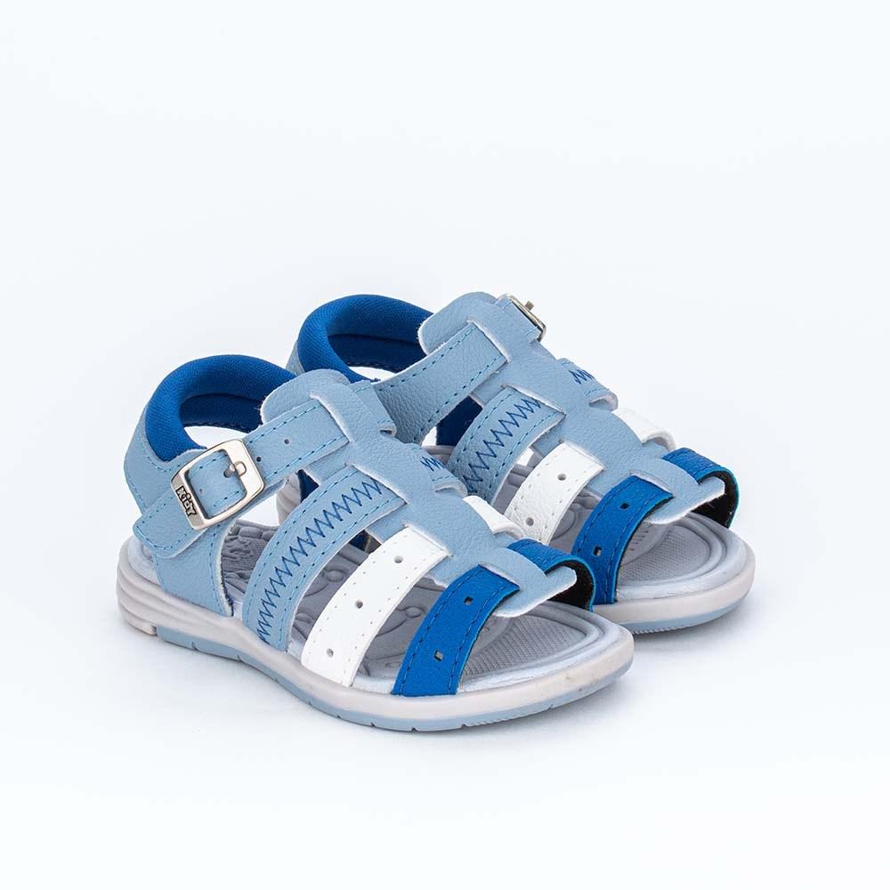 Sandália para Bebê Menino Equilíbrio Tons de Azul