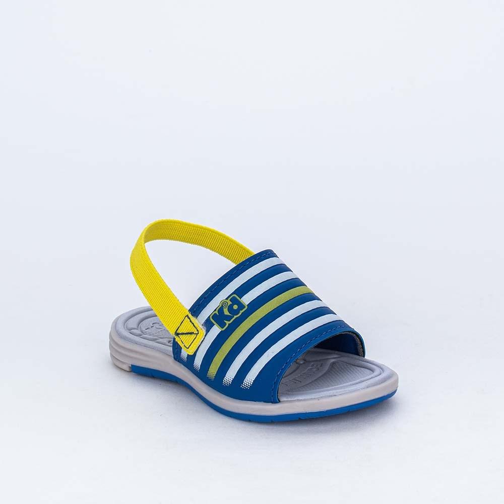 Sandália para Bebê Menino vem com Aviãozinho Azul e Amarela