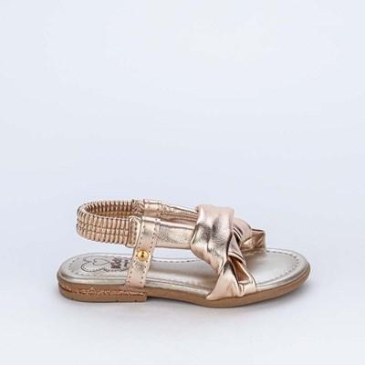 Sandália Primeiros Passos Kidy Confort Metalizada Ouro