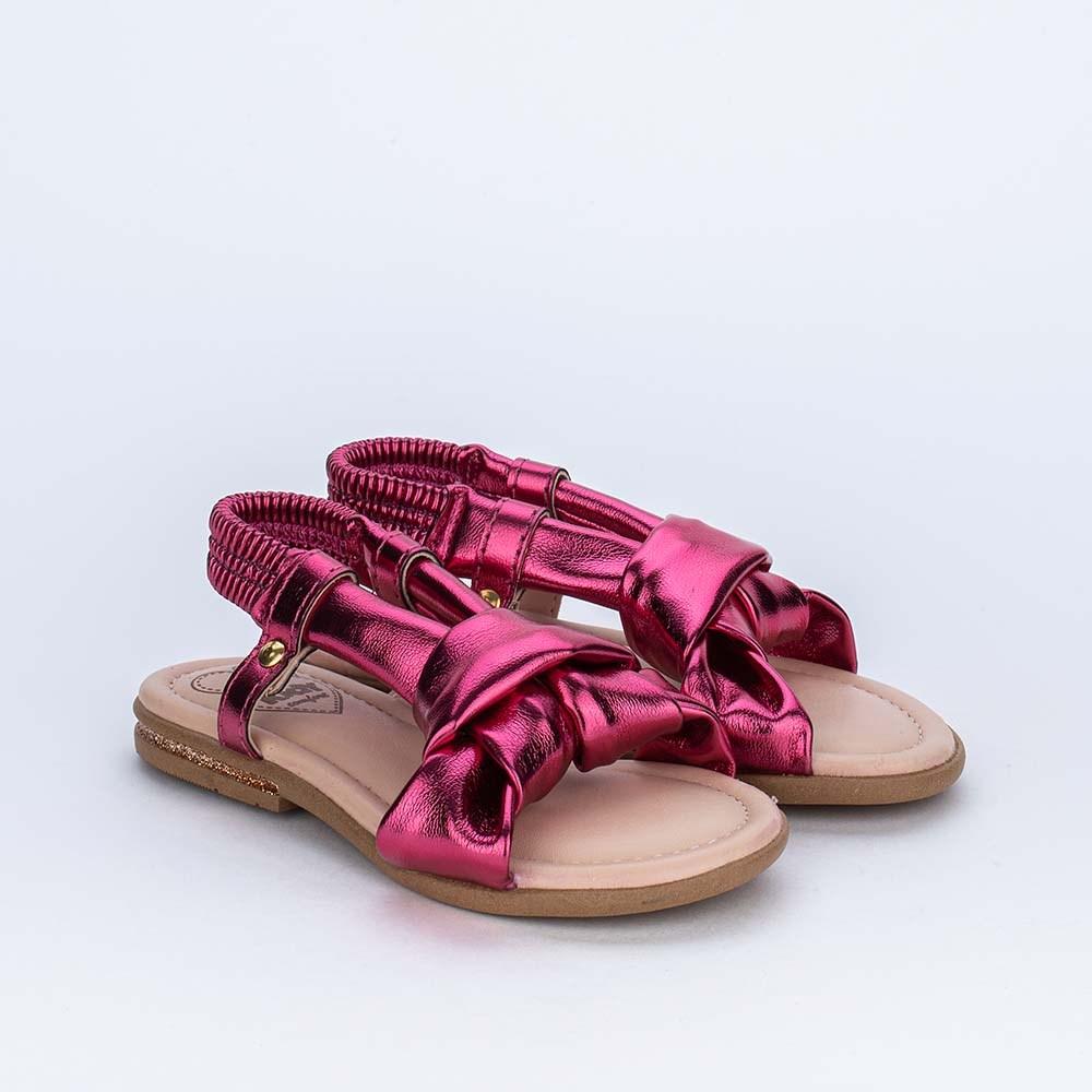Sandália Primeiros Passos Kidy Confort Metalizada Pink