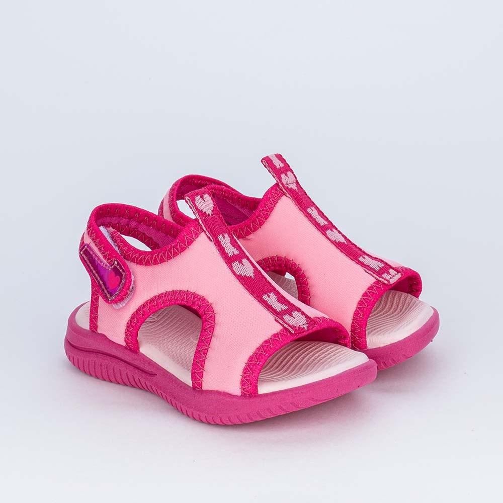 Sandália Ultra Leve para os Primeiros Passos da Menina Pink