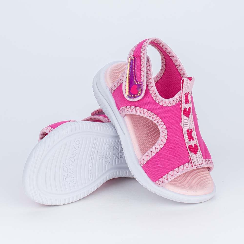 Sandália Ultra Leve para os Primeiros Passos da Menina Rosa