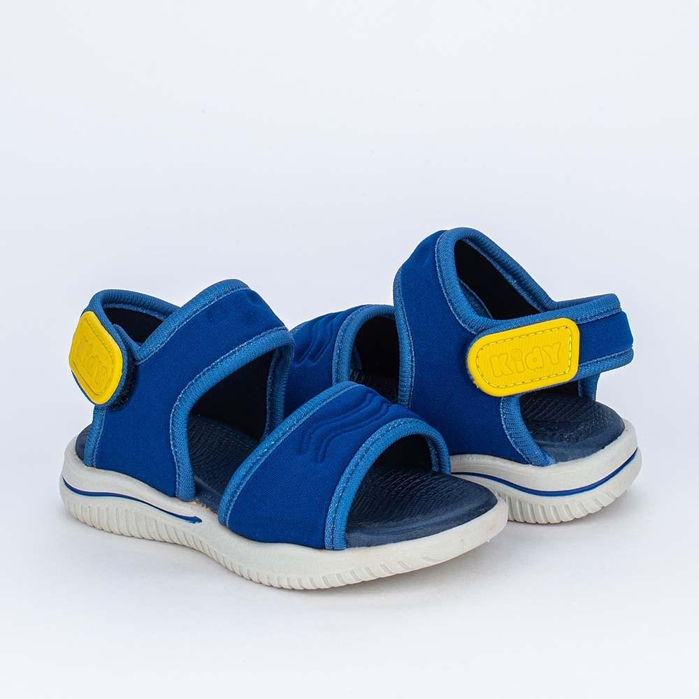 Sandália Ultra Leve para Primeiros Passos Menino Azul Royal