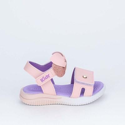Sandália Ultra Leve Primeiros Passos com Laço Rosa e Branca