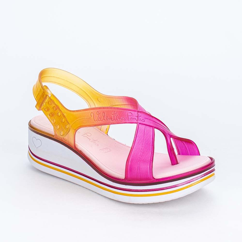 Sandália Valentina Pontes By Kidy Tie Dye Pink e Amarelo