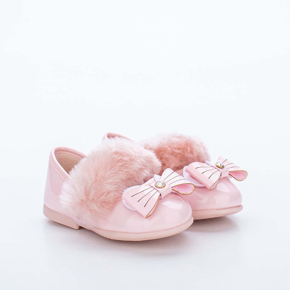 Sapatilha Infantil Bailarina Kidy Baby Coelhinha Nude