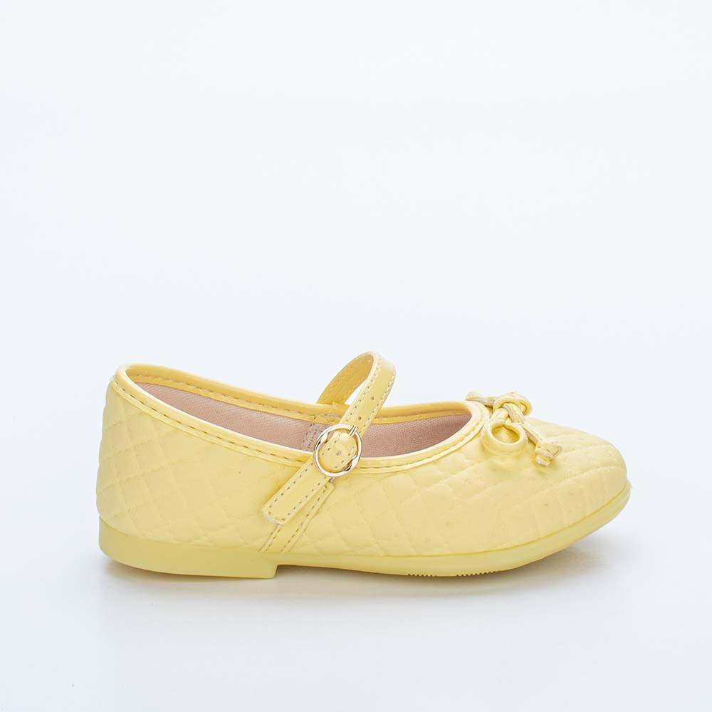 Sapatilha Infantil Feminina Bailarina Kidy Baby Amarelo