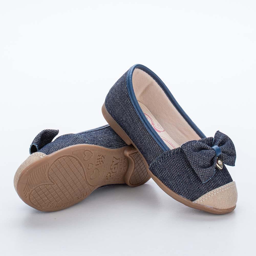 Sapatilha Infantil Feminina Bailarina Kidy Baby Jeans