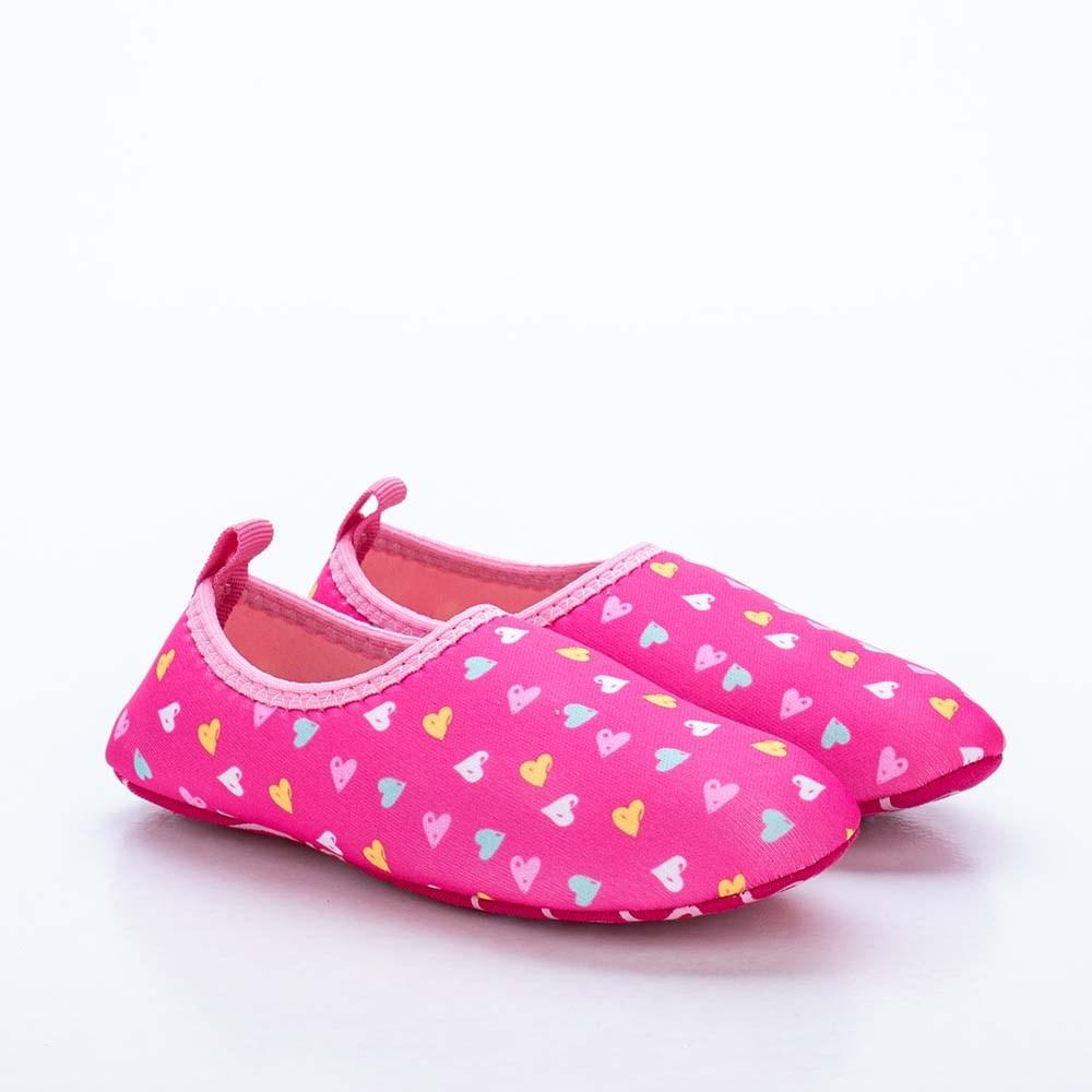 Sapatilha Infantil Feminina Kidy Socks Fun Pink e Rosa