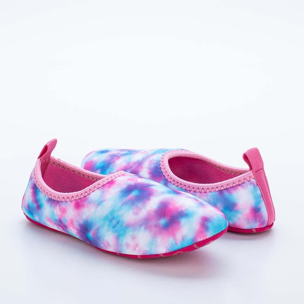 Sapatilha Infantil Feminina Kidy Socks Fun Tie Dye Pink
